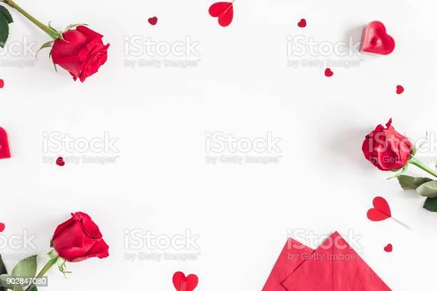 Rose flowers gifts confetti valentines day flat lay top view picture id902847080?b=1&k=6&m=902847080&s=612x612&h=ki f74txx ukds7ykfummbr4bf7vvggfeuzvqik7w9m=