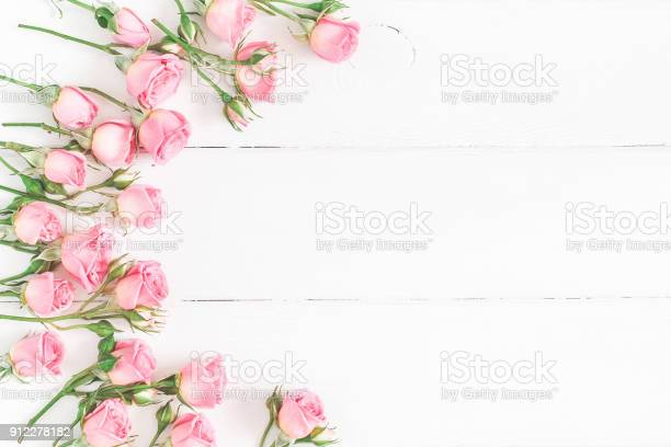 Rose flowers on white wooden background flat lay top view picture id912278182?b=1&k=6&m=912278182&s=612x612&h=cjguza8a2exzn9dueir48skpjo1v06 w7k kma8uw8g=