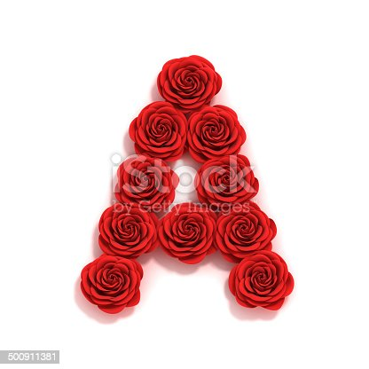 istock rose font letter A 500911381
