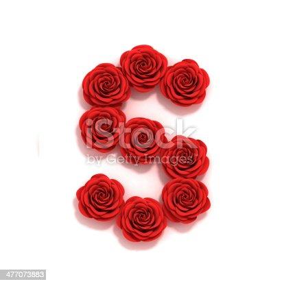 istock rose font letter S 477073883