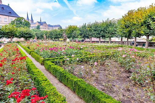 Rose Garden at the Neue Residenz - Bamberg, Bavaria, Germany