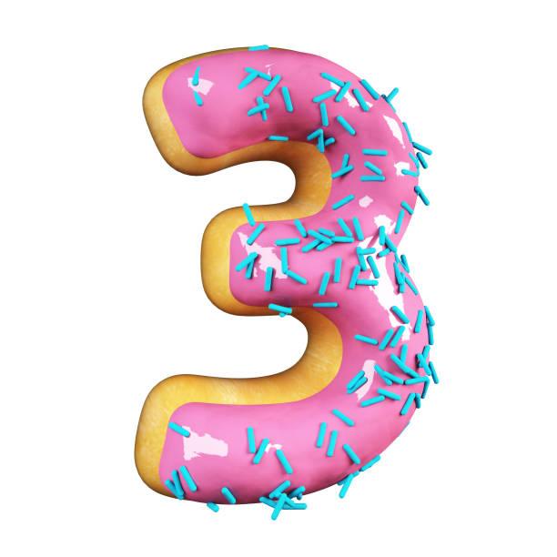 로즈 유약 도넛. 3 번 스톡 사진