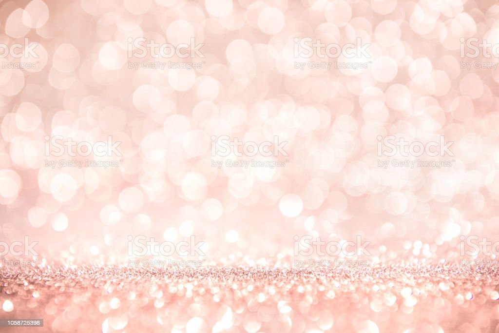 Rose Gold And Pink Glitter Defocused Abstract Holidays