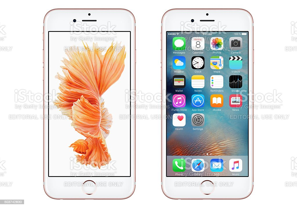 Photo Libre De Droit De Or Rose 6s Avec Apple Iphone Ios 9