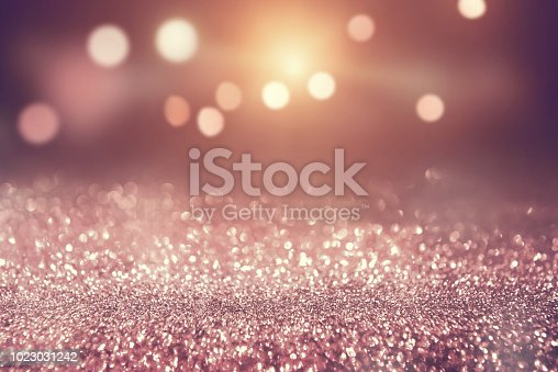 istock Rose gold color abstract glitter texture background holidays 1023031242