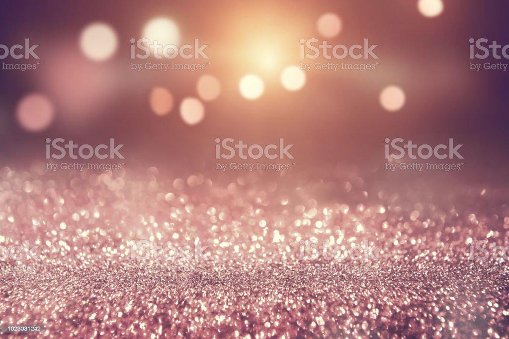 Rose gold Farbe abstrakte Glitzer Textur Hintergrund Urlaub – Foto