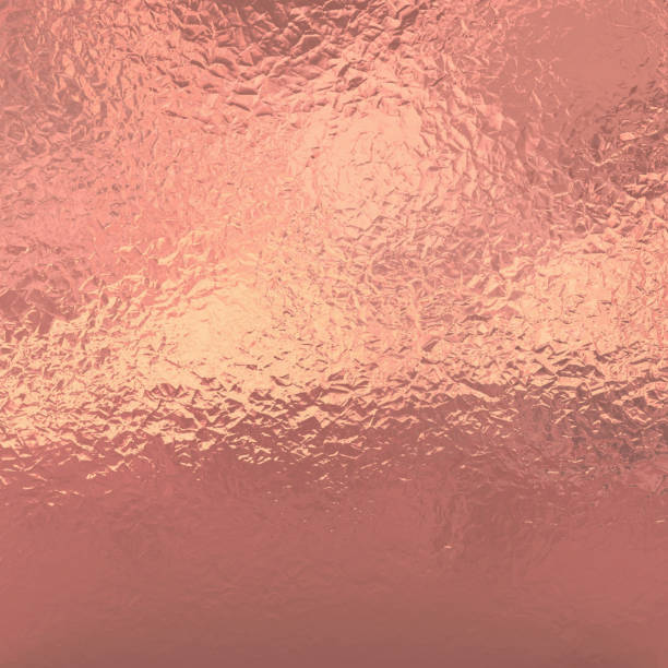 Rose Gold foil shiny texture background stock photo