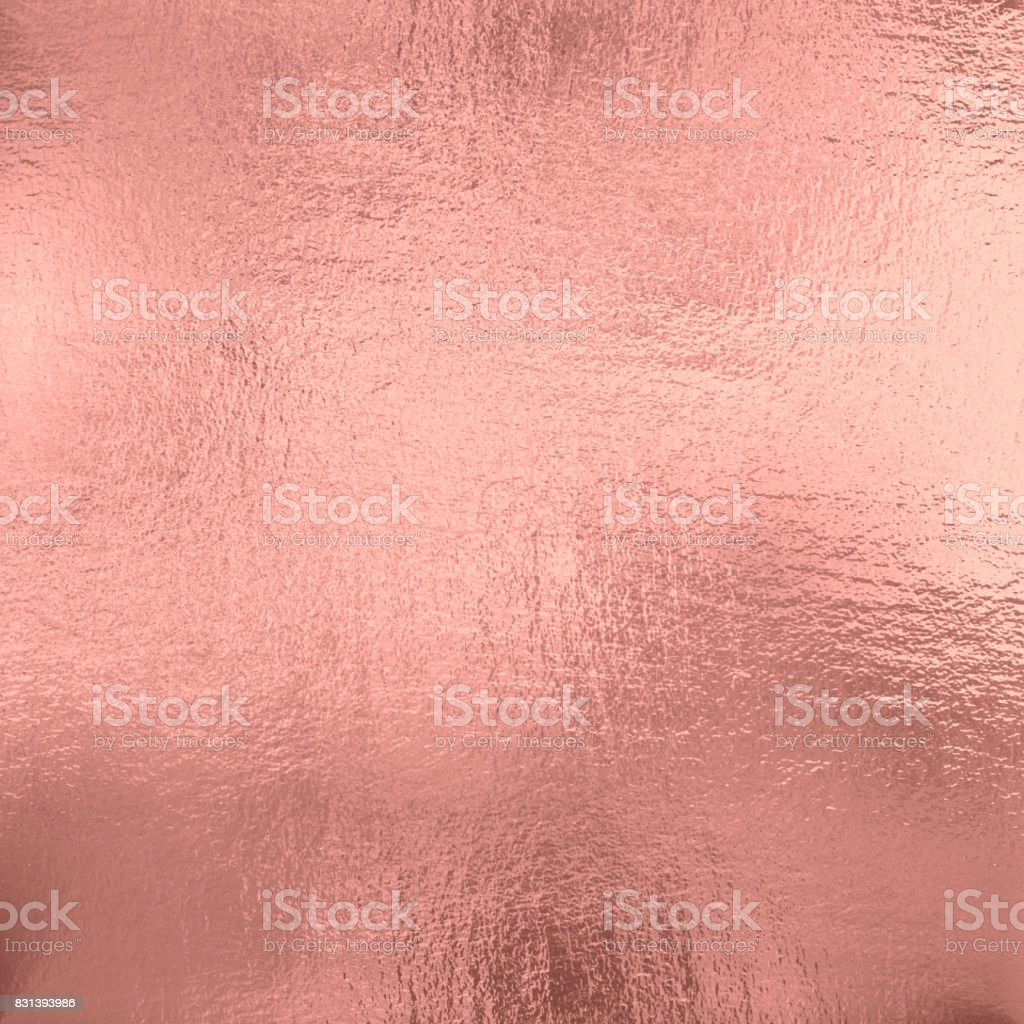 Rose Gold foil texture background stock photo