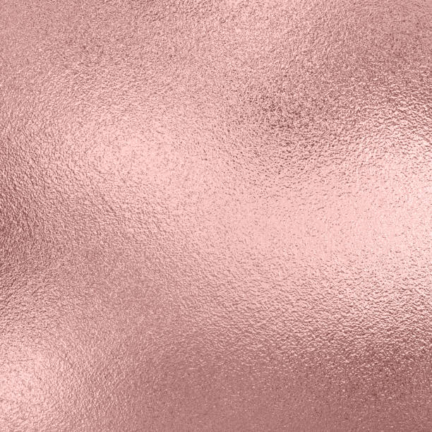 textura da folha do ouro cor-de-rosa, fundo do metal - rosa cor - fotografias e filmes do acervo
