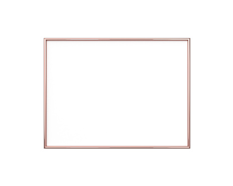 Rose Gold Frame Mockup On A White Background 3x4 Ratio