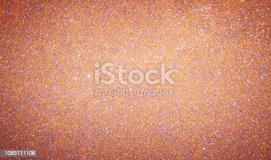 istock Rose Gold glitter background 1083111106