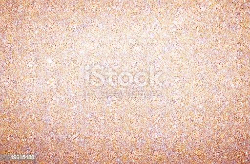 istock Rose Gold glitter background texture 1149615488