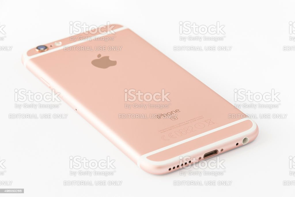 Rose Gold iPhone 6s stock photo