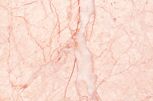 Rose Gold Marble Texture Background In Natural Pattern With High