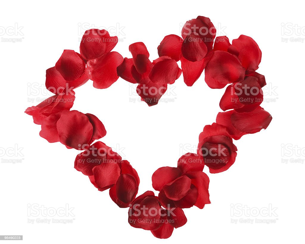 Rose heart royalty-free stock photo