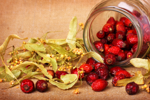 istock Rose hips and dry linden blossom 92027361