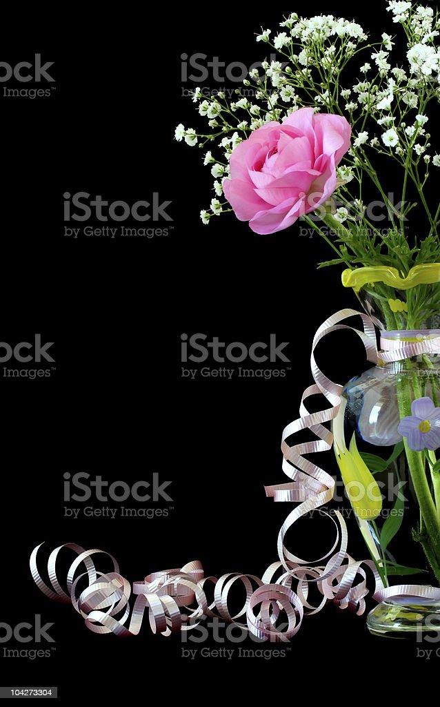 Rose in Vase stock photo