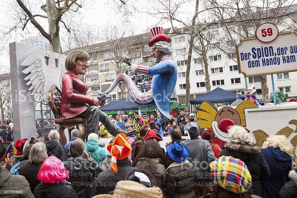 Rose Monday Carnival Parade Mainz 2014 stock photo