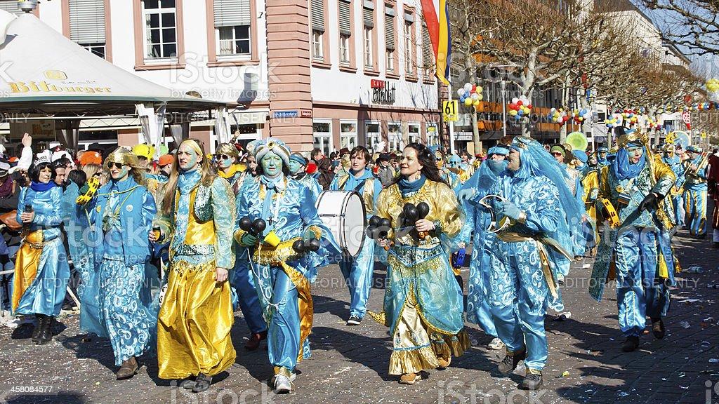 Rose Monday Parade (Rosenmontagszug) 2011 in Mainz, Germany royalty-free stock photo