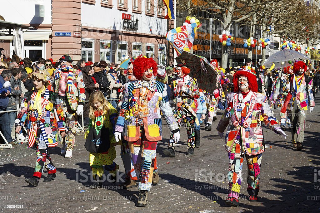 Rose Monday Parade (Rosenmontagszug) 2011 in Mainz, Germany stock photo