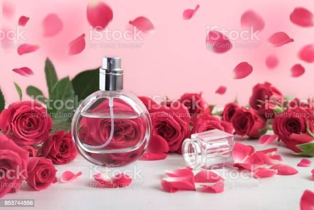 Floral feminine scent, beautiful dreamlike background.