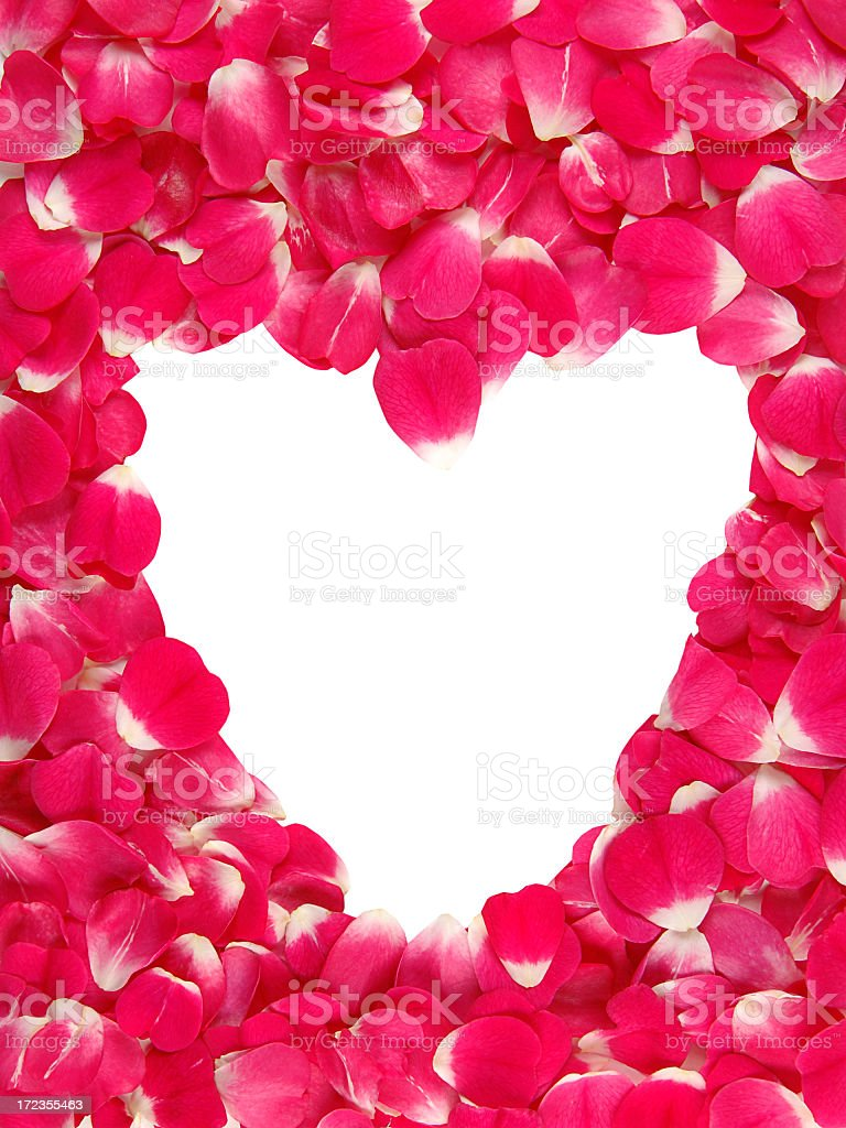 Rose petal heart border royalty-free stock photo