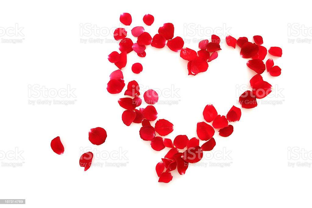 Herz aus Rosenblättern – Foto