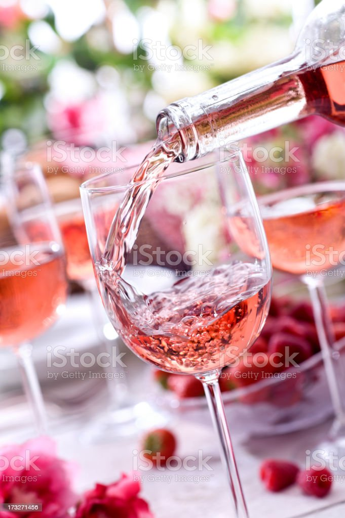 Rose Picnic stock photo