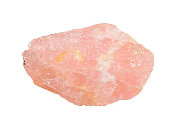 rose quartz isolated - rose quartz stock photos and pictures