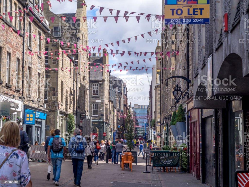 Rose Street, Edinburgh stock photo