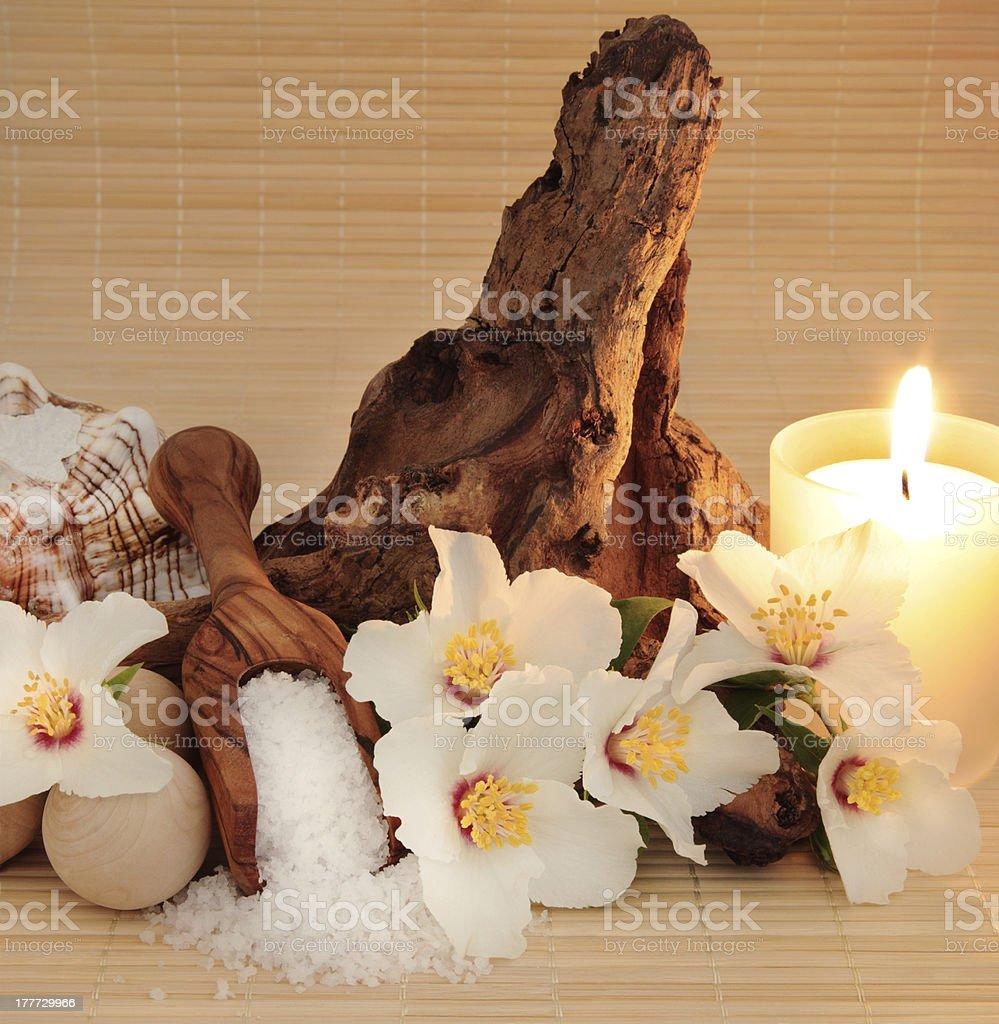 Rose Syringa Flower Spa royalty-free stock photo