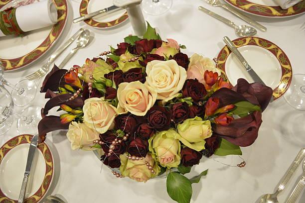 Rose Tischdekoration – Foto