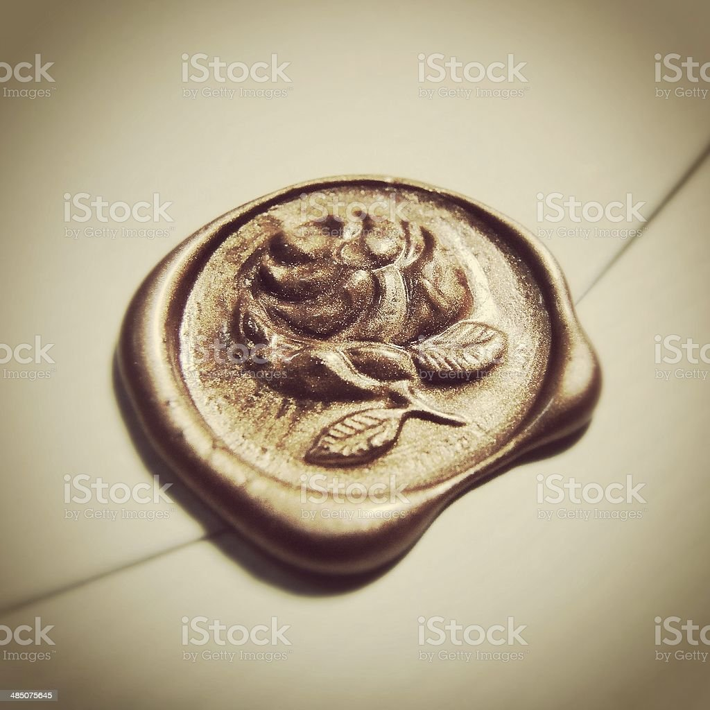 rose wax seals stok fotoğrafı