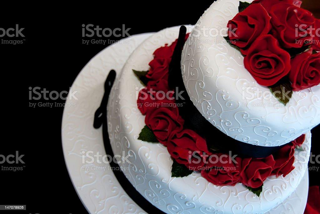 Rose Wedding Cake royalty-free stock photo