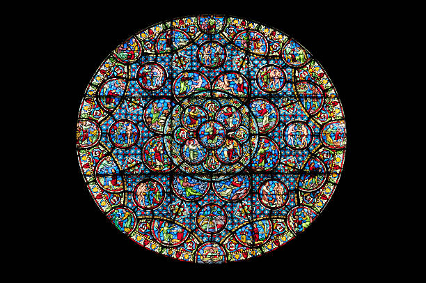 rose window - rose window stock pictures, royalty-free photos & images