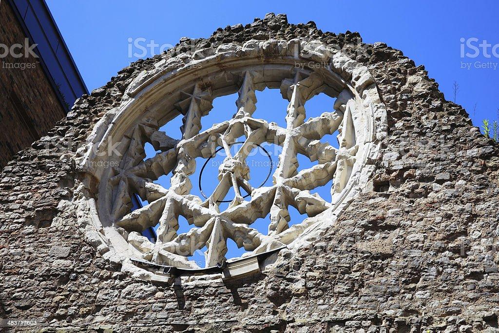 Rose Window Winchester Palace, London royalty-free stock photo