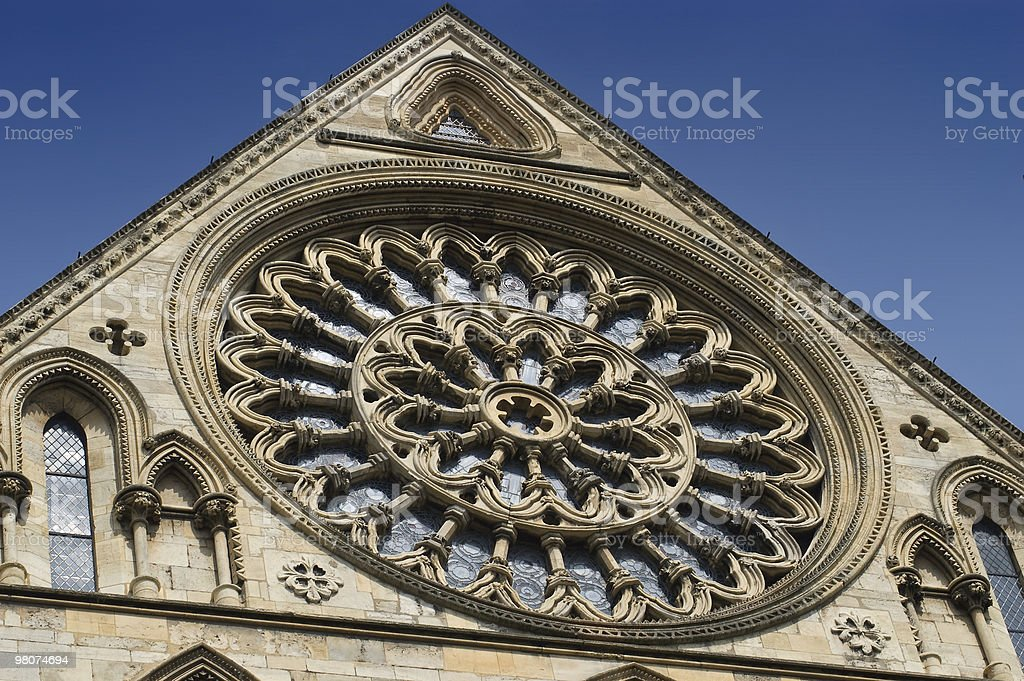 Rose window, Yorkminster, England royalty-free stock photo