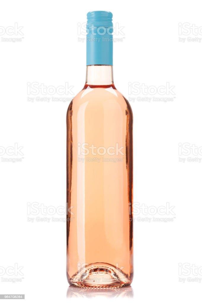 Rose wine bottle royalty-free stock photo