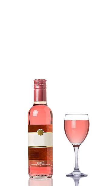 rose wine - mini weinflaschen stock-fotos und bilder