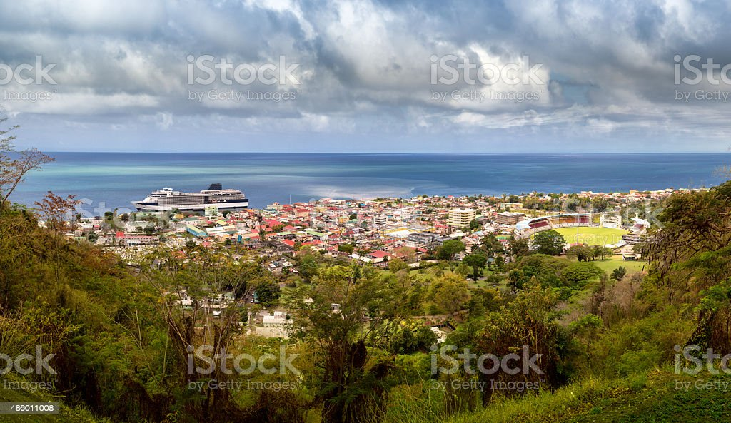 Roseau, Capitol City of the Caribbean Island of Dominica stock photo