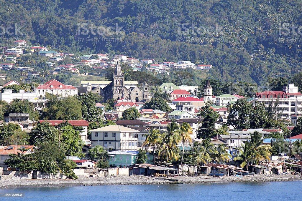 Roseau, Dominica stock photo