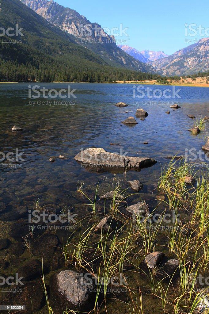 Rosebud Lake stock photo