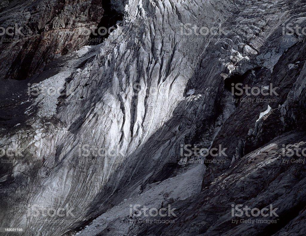 Roseg glacier, Sella Mountains, Switzerland. royalty-free stock photo