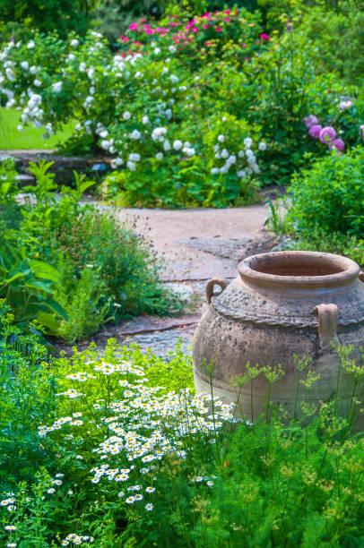 Royalty free decorative urn white flower bed formal garden pictures decorative urn white flower bed formal garden pictures images and stock photos mightylinksfo