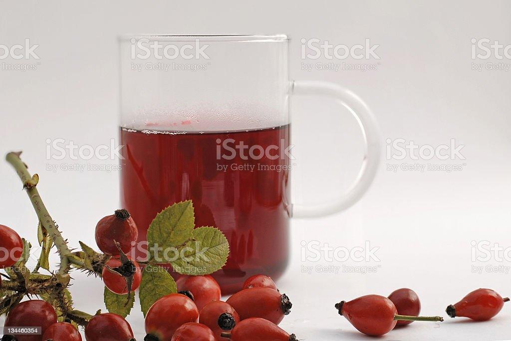 rosehip tea stock photo