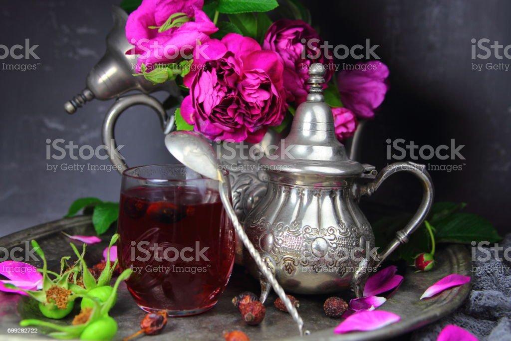 чай из шиповника stock photo