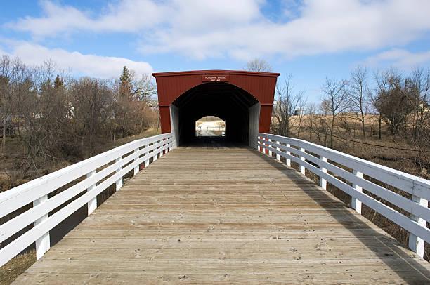 Roseman Bridge - Madison County Iowa stock photo
