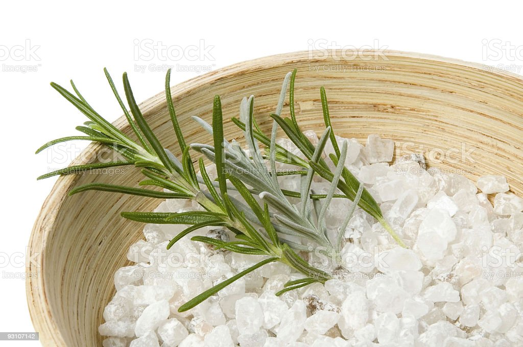 rosemary and lavender bath royalty-free stock photo