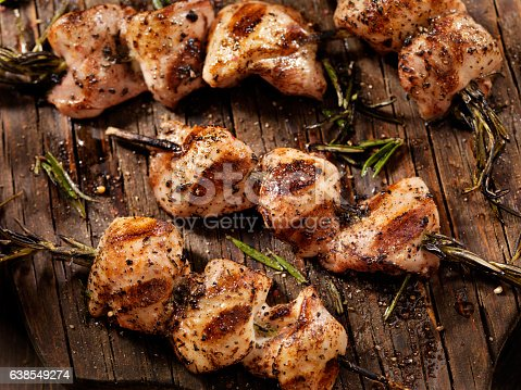 BBq,Rosemary Chicken Skewers-Photographed on a Hasselblad H3D11-39 megapixel Camera System