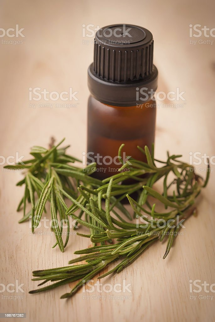 Rosemary Essential Oil royalty-free stock photo
